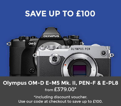 Save up to £100 on selected Olympus cameras